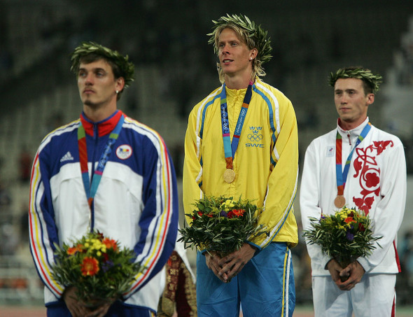 Mens Triple Jump Medal Ceremony