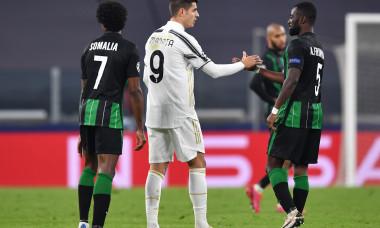 Alvaro Morata, la finalul meciului cu Ferencvaros / Foto: Getty Images