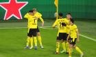 Fotbaliștii Borussiei Dortmund, în meciul cu Brugge / Foto: Getty Images