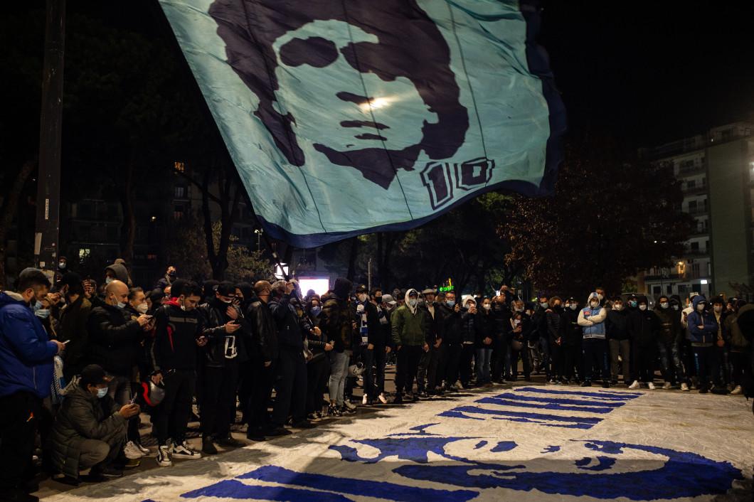 Diego Armando Maradona Death Mourning In Naples