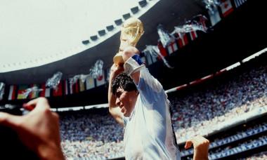 Diego Maradona, după câștigarea Campionatului Mondial din 1986 / Foto: Getty Images
