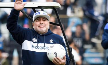Gimnasia y Esgrima La Plata Unveils New Coach Diego Maradona