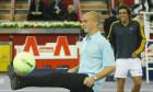 Cambiaso and Mariano Zabaleta play tennis/football