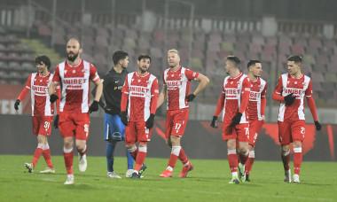 Fotbaliștii lui Dinamo, după victoria cu Viitorul din Cupa României / Foto: Sport Pictures