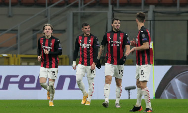 Fotbaliștii lui AC Milan, în meciul cu Celtic / Foto: Getty Images