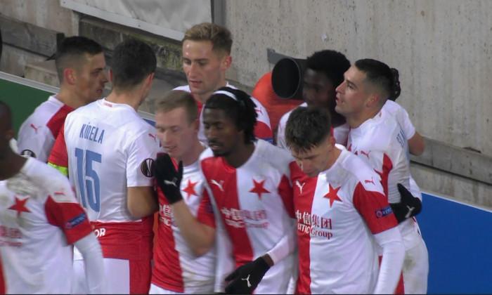 Nicolae Stanciu a marcat pentru Slavia în meciul cu Beer Sheva / Foto: Captură Digi Sport