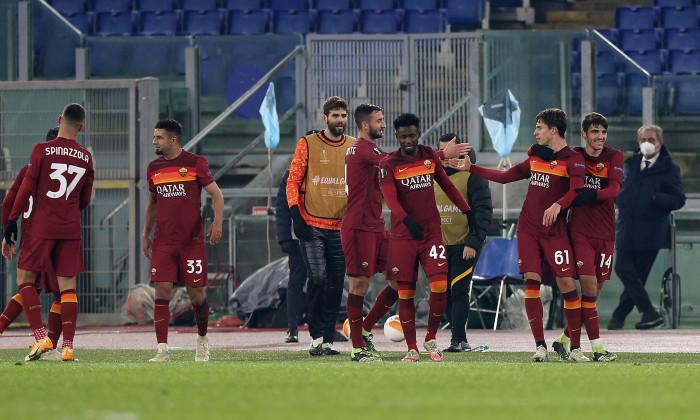 Fotbaliștii Romei, în meciul cu Young Boys Berna / Foto: Getty Images