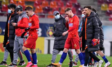 Ionuț Panțîru, la finalul meciului FCSB - UTA Arad 3-0 / Foto: Sport Pictures