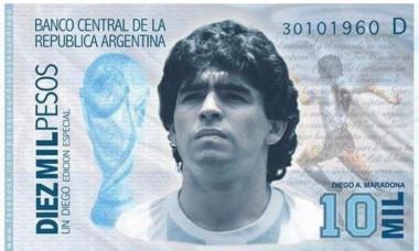 maradona bancnota