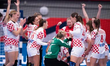 Echipa Croației, după victoria cu Serbia / Foto: Profimedia