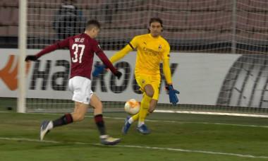 Ciprian Tătărușanu, în meciul cu Sparta Praga / Foto: Captură Digi Sport
