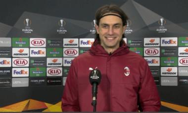 Ciprian Tătărușanu, la interviul oferit după Sparta Praga - AC Milan / Foto: Captură Digi Sport