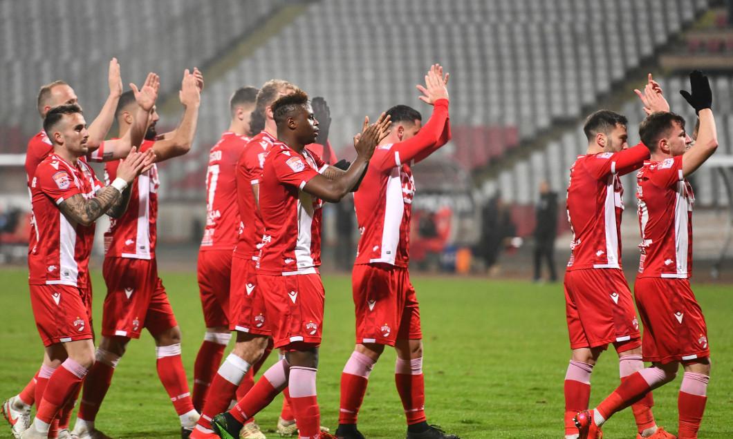 Fotbaliștii lui Dinamo, în meciul cu Poli Iași / Foto: Sport Pictures