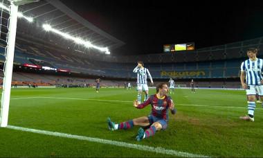 Antoine Griezmann, după șansa imensă ratată în meciul cu Sociedad / Foto: Captură Digi Sport