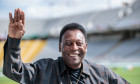 Soccer Legend Pele Visits Olympic Stadium In Barcelona