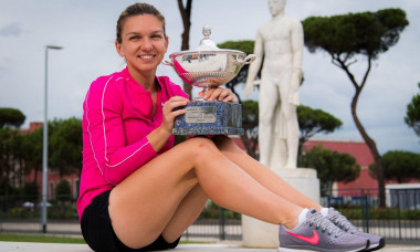 Simona Halep of Romania during the champions trophy shoot after the 2020 Internazionali BNL d'Italia WTA Premier 5 tennis tournament on September 21,