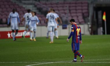 Lionel Messi, în timpul meciului cu Valencia / Foto: Getty Images