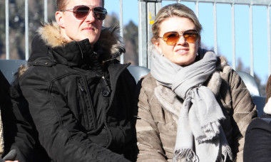 MICHAEL SCHUMACHER AND WIFE IN ST MORITZ
