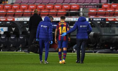 Philippe Coutinho a ieșit accidentat din meciul cu Eibar / Foto: Getty Images