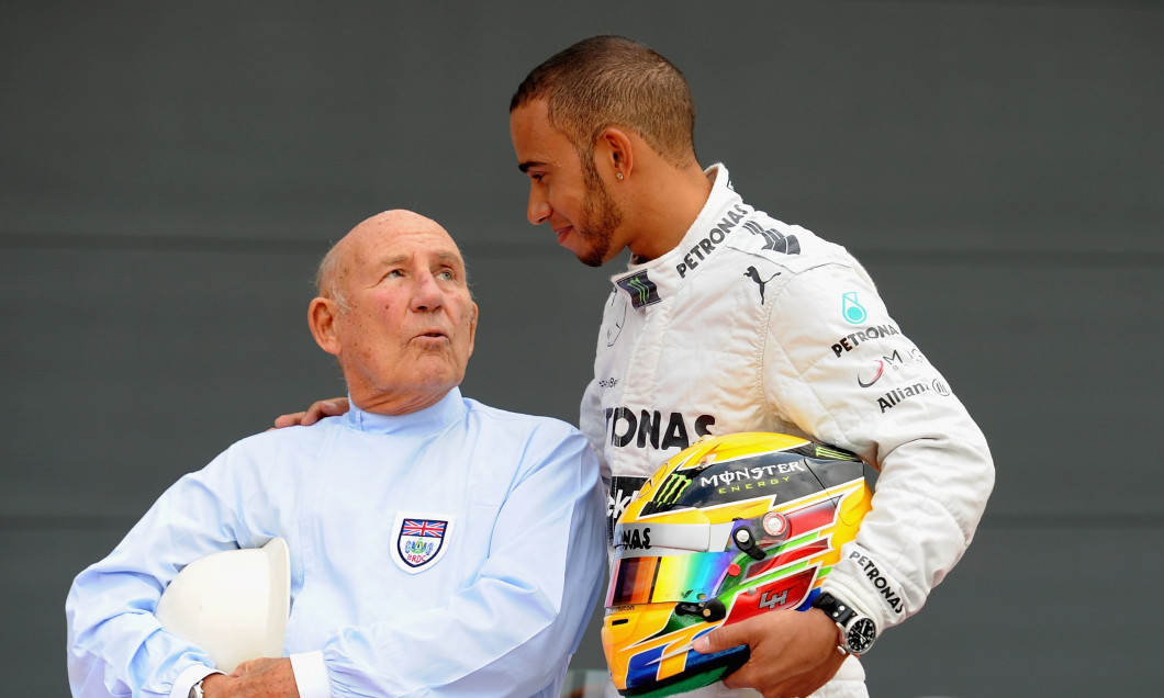 Lewis Hamilton and Sir Stirling Moss - F1 Grand Prix of Great Britain Previews