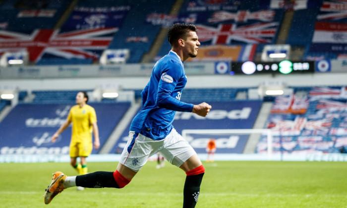 Ianis Hagi, în tricoul lui Rangers / Foto: Profimedia