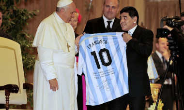 Rome Pope Francis and the Match for Peace - Players Meeting at Vatican City