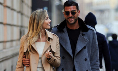 Graziano Pelle and Viktoria Varga out and about, Milan, Italy - 19 Feb 2020