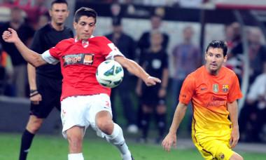1.FOTBAL:DINAMO BUCURESTI-FC BARCELONA 0-1,AMICAL (11.08.2012)