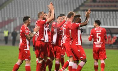 Fotbaliștii lui Dinamo, după un meci cu Poli Iași / Foto: Sport Pictures