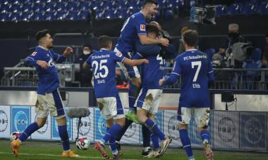 Fotbaliștii lui Schalke, în partida cu Hoffenheim / Foto: Getty Images