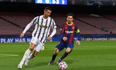 Lionel Messi și Cristiano Ronaldo, în meciul Barcelona - Juventus / Foto: Getty Images
