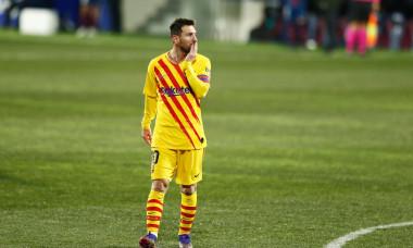 Soccer : 2020-2021 La Liga Santander : SD Huesca 0-1 FC Barcelona