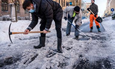 The Filomena snow storm in Madrid, Spanish - 10 Jan 2021