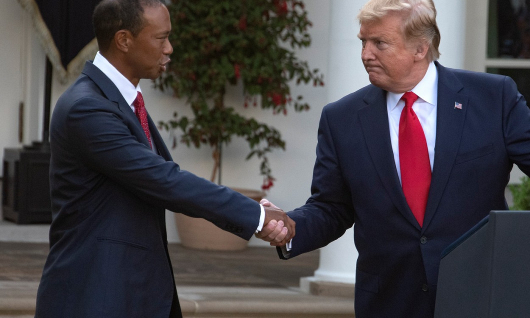 DC: Trump Awards the Presidential Medal of Freedom to Tiger Woods