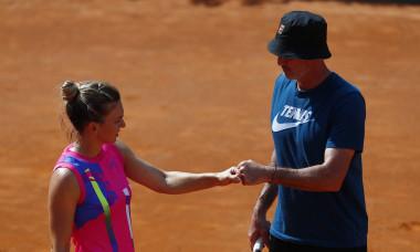 Simona Halep și Darren Cahill, în timpul turneului de la Roma / Foto: Getty Images