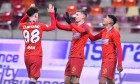 Dennis Man, Florin Tănase și Florinel Coman, în meciul FCSB - Astra / Foto: Sport Pictures