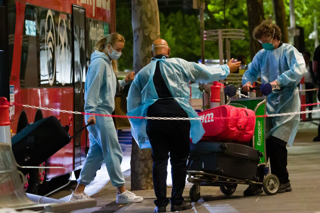 Tennis Players arriving in quarantine for the Australian Open, Melbourne, USA - 14 Jan 2021