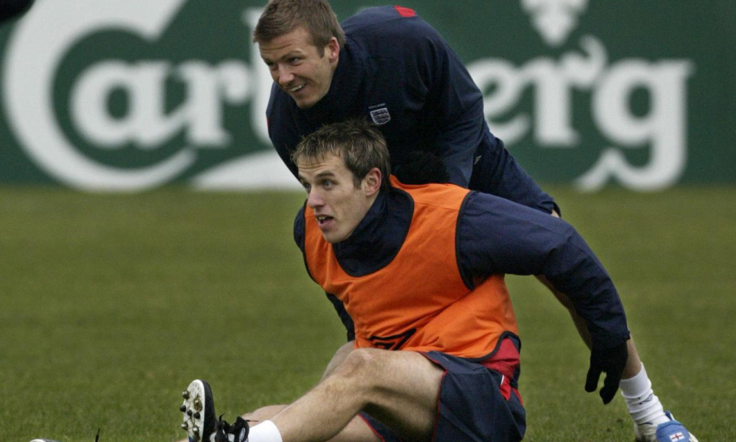 Phil Neville and David Beckham File Photos
