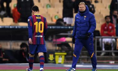 Lionel Messi, după ce a fost eliminat în confruntarea cu Bilbao din Supercupa Spaniei / Foto: Getty Images