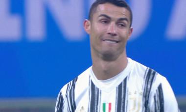 Cristiano Ronaldo, după golul lui Nicolo Barella, din Inter - Juventus / Foto: Captură Digi Sport