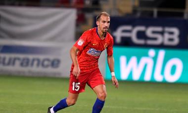 David Caiado, în singurul meci jucat pentru FCSB, 0-2 cu Slovan Liberec / Foto: Sport Pictures
