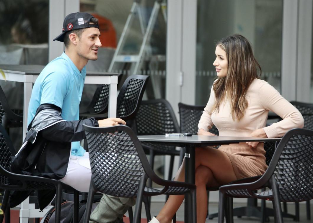 *EXCLUSIVE* Vanessa Sierra & Bernard Tomic at Brisbane tennis Centre