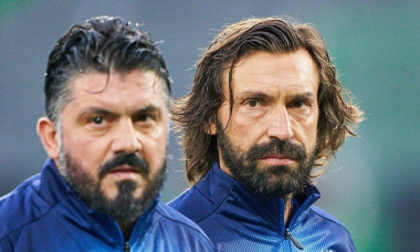 Frth, Germany, October 07, 2019Gennaro GATTUSO, ITA All Stars Nr. 8 Andrea PIRLO, ITA All Stars Nr. 21 GERMANY ALL-STARS - ITALY AZZURRI ALL STARS 3-3, German Soccer League , Frth, Germany, October 07, 2019 Season 2019/2020© Peter Schatz / Alamy Li