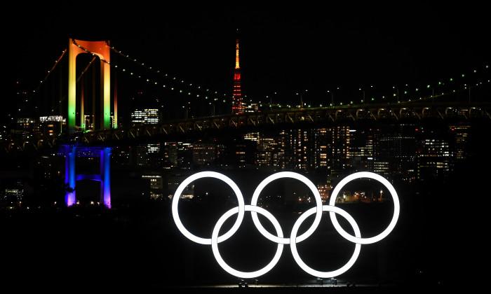 Logo-ul Jocurilor Olimpice, la Tokyo / Foto: Getty Images