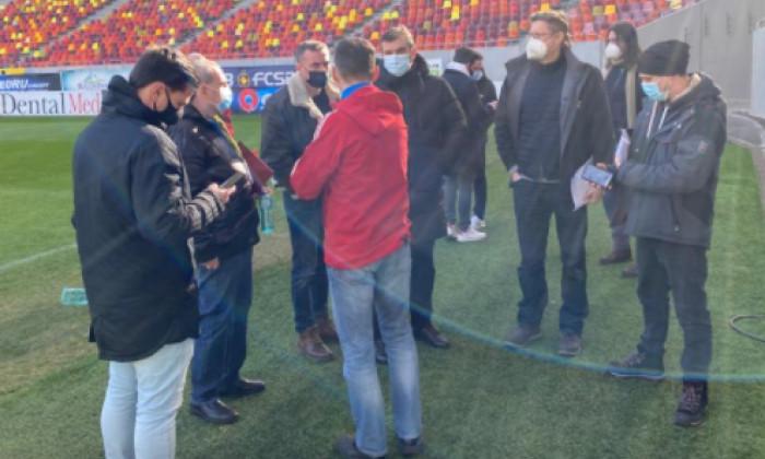 Delegația Federației de Fotbal din Germania, în vizită la Arena Națională / Foto: FRF.ro