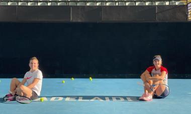 Simona Halep și Irina Begu, la Adelaide / Foto: Instagram@simonahalep