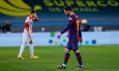 Lionel Messi, după cartonașul roșu primit în meciul cu Athletic Bilbao / Foto: Getty Images
