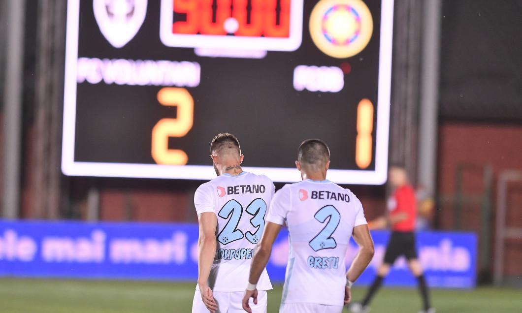 Ovidiu Popescu și Vali Crețu, după 1-2 cu FC Voluntari / Foto: Sport Pictures