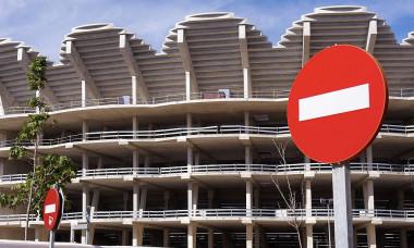 """Așa arată șantierul stadionului """"Nou Mestalla"""" / Foto: Getty Images"""