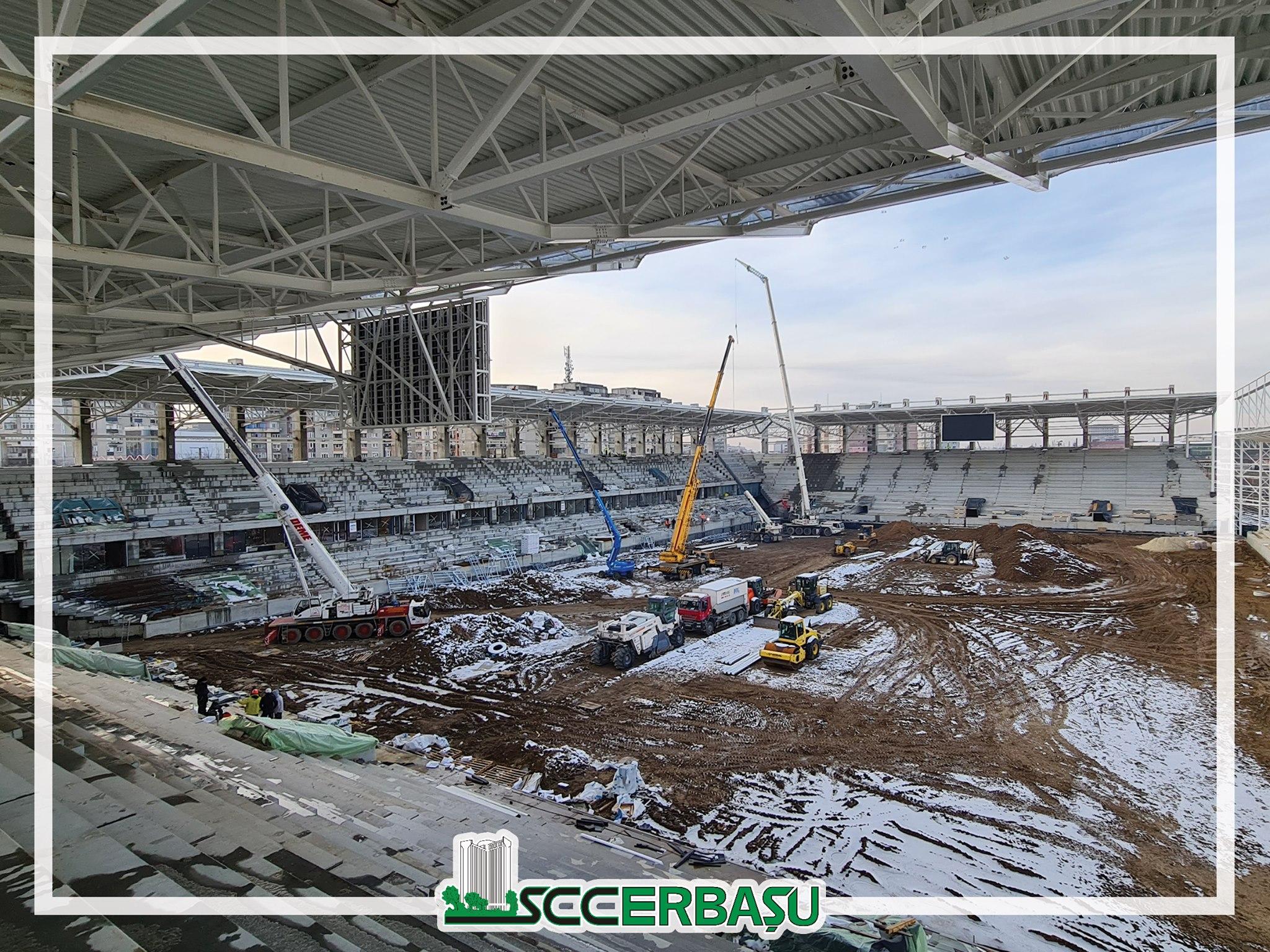 Stadionul Rapid prinde contur! S-au montat tabele de marcaj. Cum arată acum arena de 5 stele